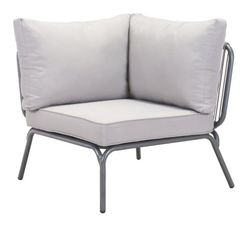 Pier Corner Single Chair Gray