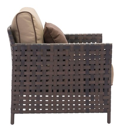 Pinery Arm Chair Brown & Beige