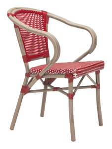 Paris Dining Arm Chair Red&White (Set Of 2 Units)