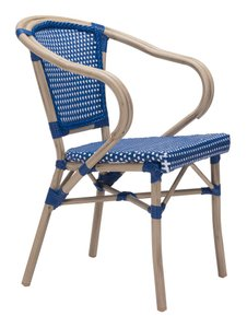 Paris Dining Arm Chair Navy Blue & White (Set of 2 Units)