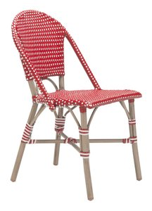 Paris Dining Chair Red & White (Set of 2 Units)