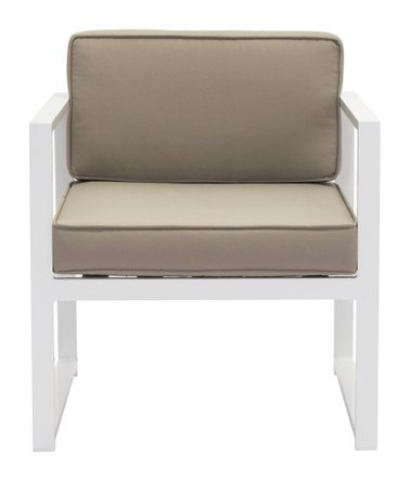 Golden Beach Arm Chair White & Taupe (Set of 2)