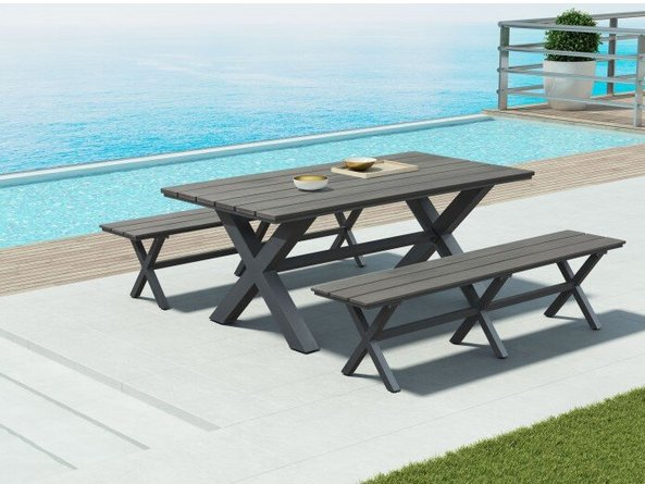 Bodega Dining Table Industrial Gray & Brown