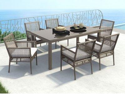 Coronado Dining Table Cocoa And Light Gray