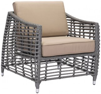 Trek Beach Arm Chair Gray And Beige