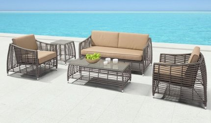 Trek Beach Sofa Gray And Beige