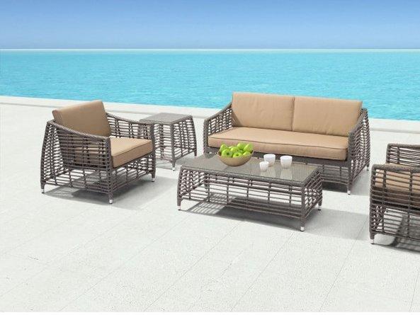 Trek Beach Side Table Gray & Beige