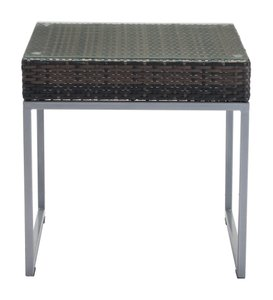 Malibu Side Table Brown & Silver