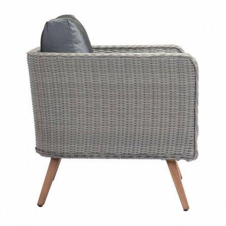Monaco Arm Chair Natural & Gray