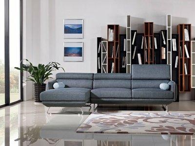 Pierce Modern Sectional Sofa Blue