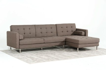 Smith Modern Sectional Sofa Bed Brown