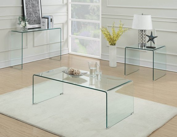 Contemporary Coffee Table Clear