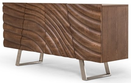 Modrest Finley Modern Buffet Walnut