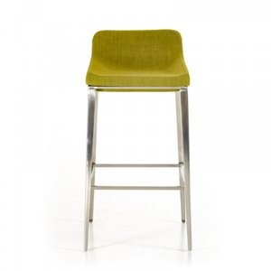 Modrest Adhil Modern Fabric Bar Stool Green