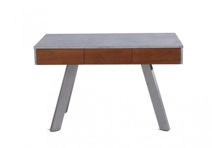 Austin Contemporary Concrete & Walnut Desk