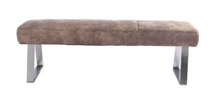 Modrest Zane Modern Fabric Dining Bench Brown