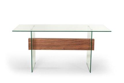 Sven Contemporary White & Walnut Desk & Shelves