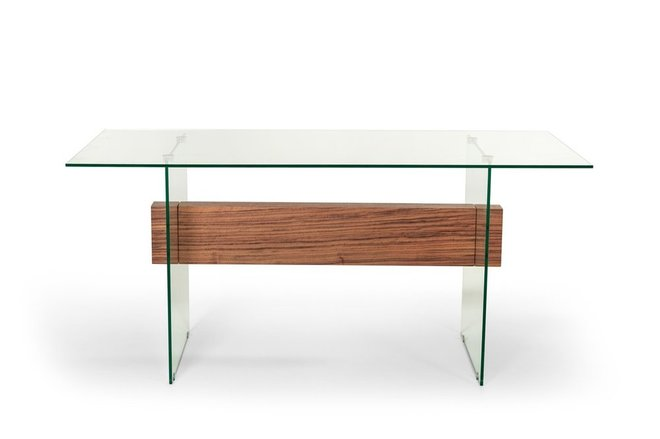 Sven Contemporary White & Walnut Desk & Shelves