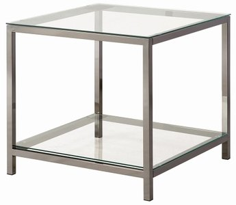 Contemporary End Table Black Nickel