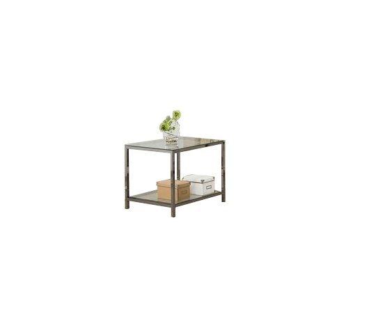 Contemporary End Table Black Nickel