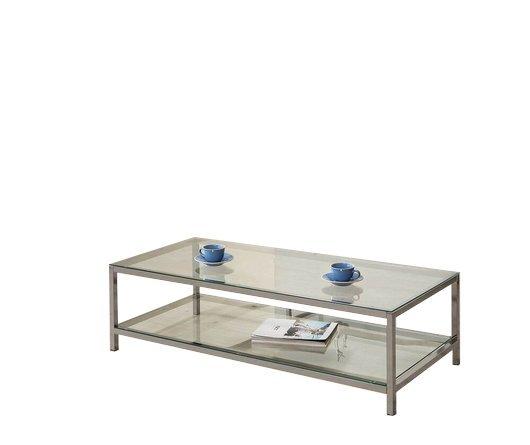 Contemporary Coffee Table Black Nickel
