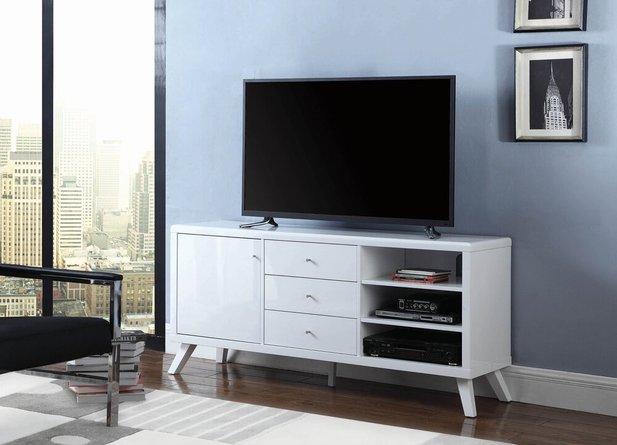 Contemporary  TV Stand White