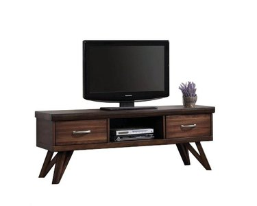 "Modern TV Console 60"" Rustic Walnut"