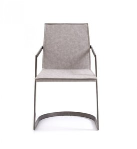 Jago Modern Dining Chair White Wash Gray