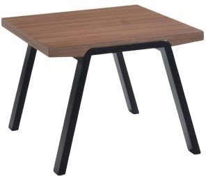 Modrest Rhett Modern End Table Walnut And Black