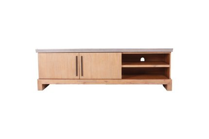 Modrest Civic TV Stand Dark Gray And Natural