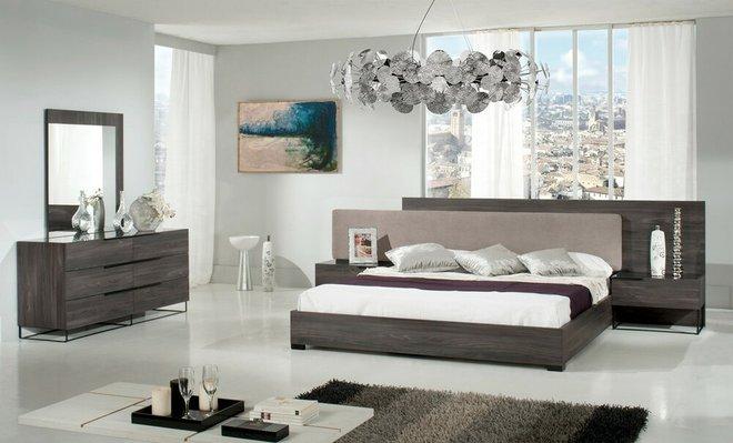 Enzo Italian Modern Gray Oak Dresser