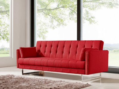 Divani Casa Tejon Modern Red Sofa Bed Red