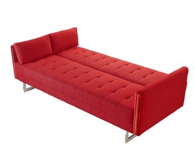 Divani Casa Tejon Modern Red Sofa Bed Red