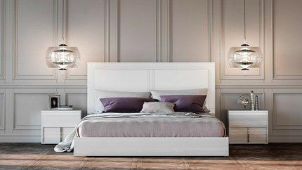Nicla Italian Modern Queen Bed White