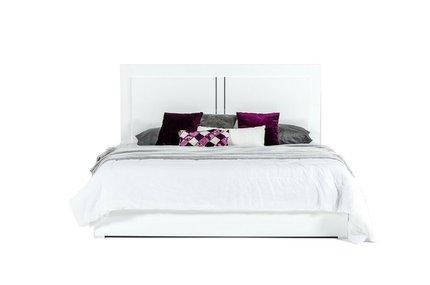 Nicla Italian Modern Eastern King Bed White