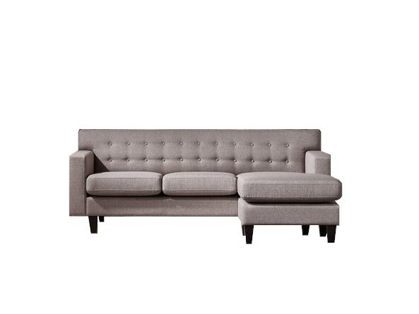 Divani Casa Tawny Reversible Sectional Sofa Brown/Gray