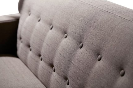 Divani Casa Tawny Reversible Sectional Sofa Brown/Gray