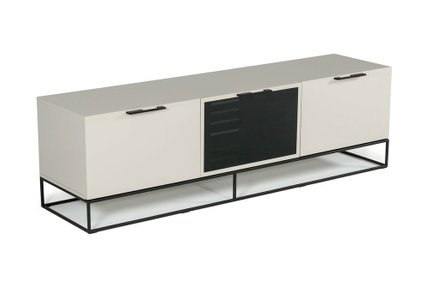 Hera Modern Gray & Black TV Stand