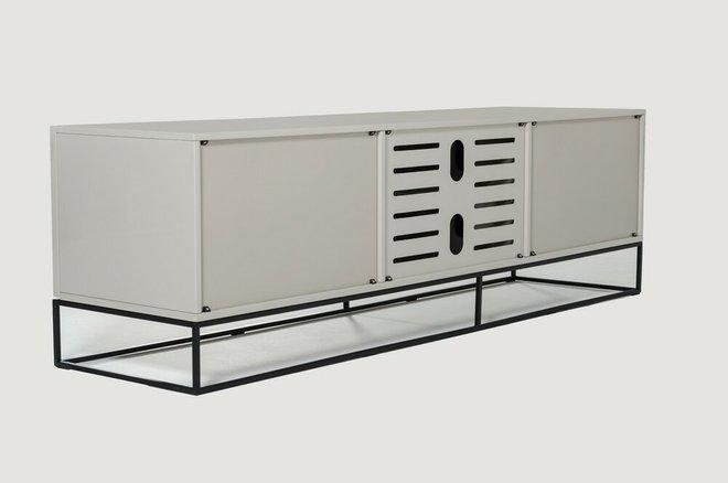 Hera Modern Gray & Black TV Stand