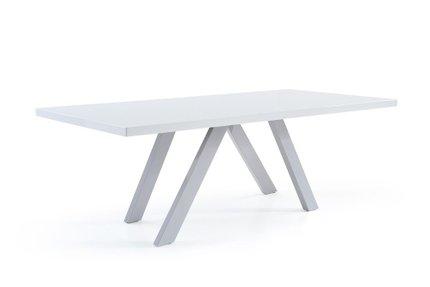 Modrest Vanguard Modern Dining Table White & Gray