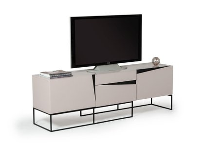 Modrest Hope Modern TV Stand Gray Gloss