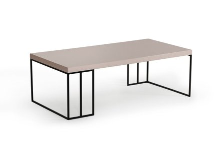 Modrest Hope Modern Coffee Table Gray Gloss