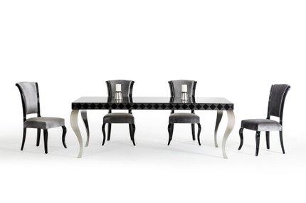 Versus Mia & Seema Dining Set For 6 Black And Gray
