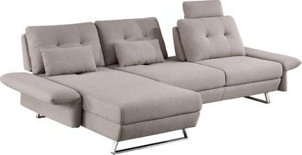 Divani Payne Modern Fabric Sectional Sofa Gray
