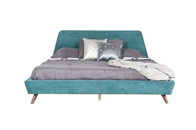 Lewis Mid Century Modern Queen Bed Teal