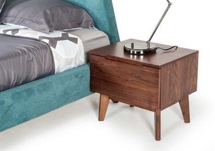Lewis Mid Century Modern Walnut Nightstand