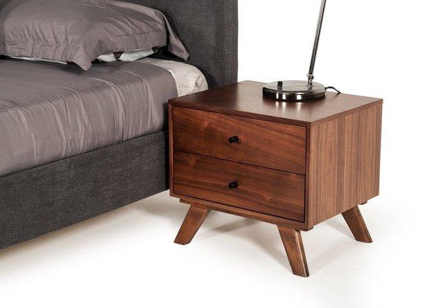 Addison Mid-Century Modern  Nightstand Walnut
