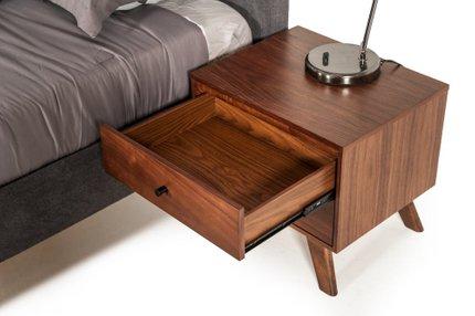 Addison Mid-Century Modern Walnut Nightstand