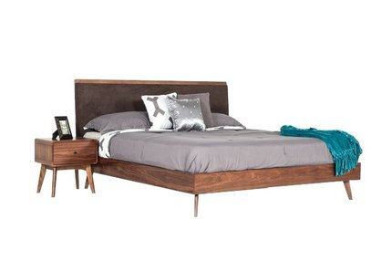 Marshall Mid Century Modern Queen Bed Brown