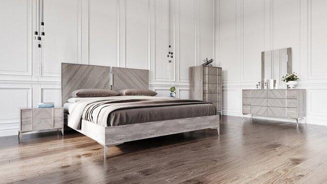 Nova Domus Alexa Italian Modern Nightstand Gray
